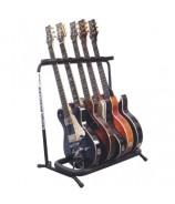 Soporte de 5 guitarras/bajos para suelo